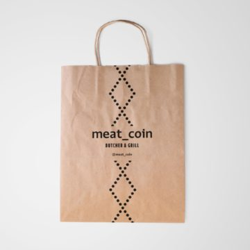 Meat Coin Paper Bag